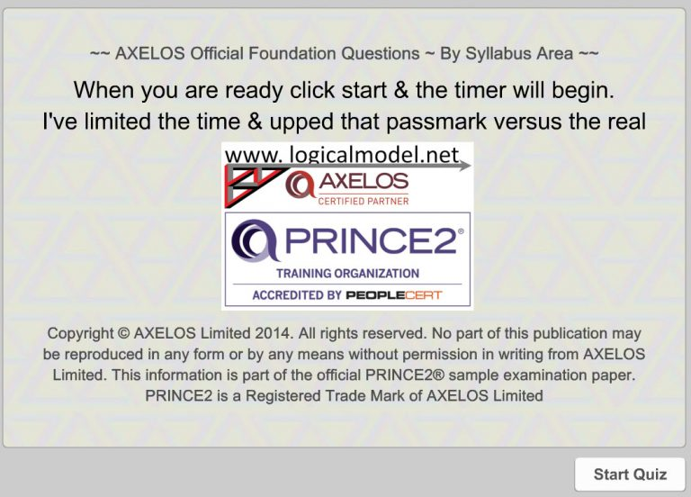 PRINCE2 Foundation Exam Questions